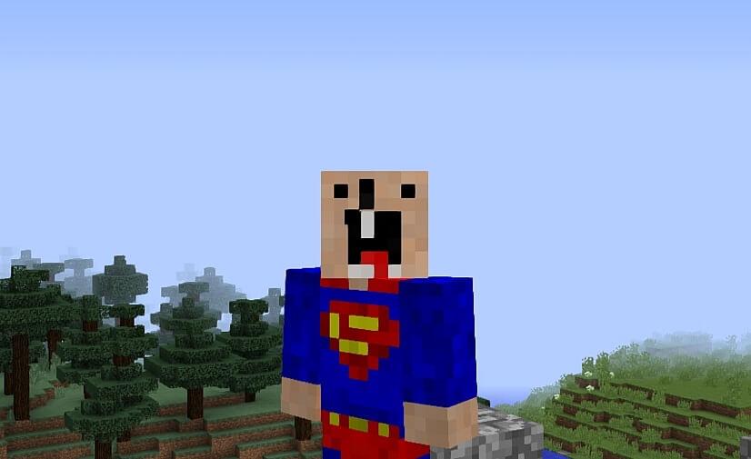 Скин супермена майнкрафт