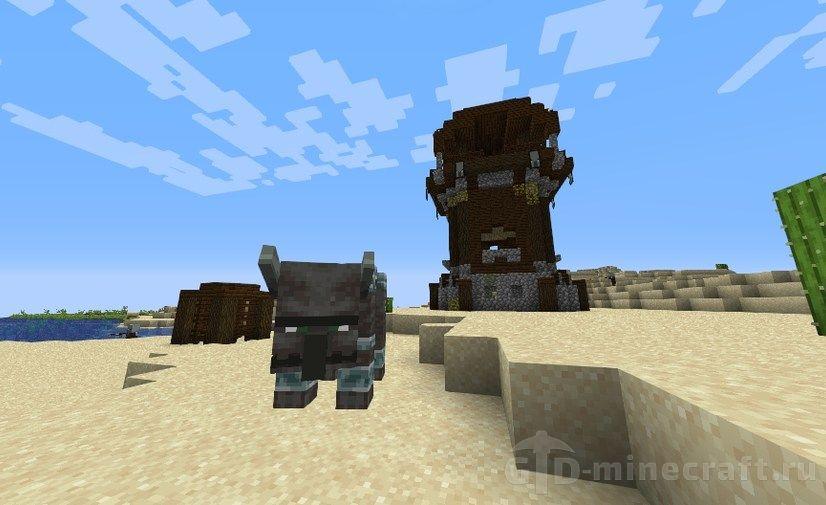 Дроп седла в Minecraft